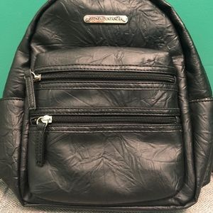New black leather backpack Stone Mountain
